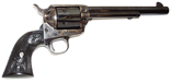 Een revolver van het merk Colt Kal.45 type Long Colt, simple action, loop 5'' - afwerking 'bleu jaspé'  Colt 45 long Colt